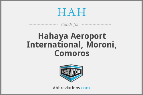 HAH - Hahaya Aeroport International, Moroni, Comoros