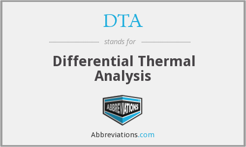 DTA - Differential Thermal Analysis