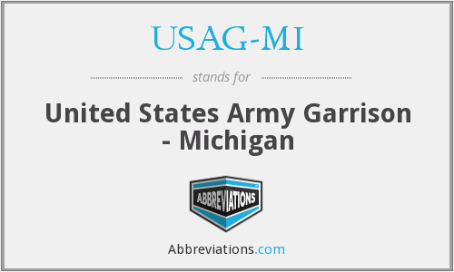 What does USAG-MI stand for?