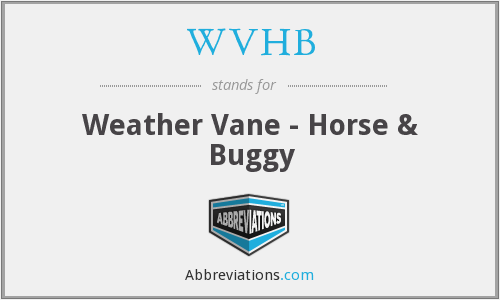 WVHB - Weather Vane - Horse & Buggy