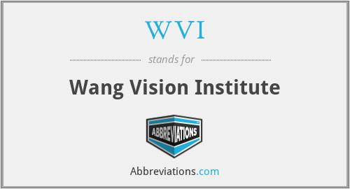 WVI - Wang Vision Institute