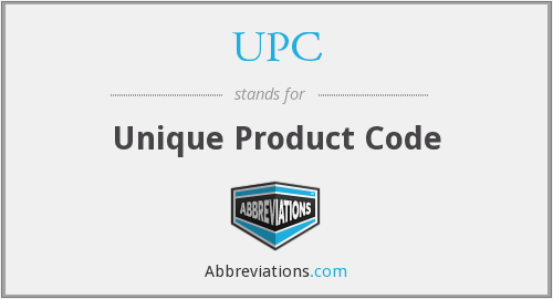 UPC - Unique Product Code