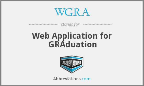WGRA - Web Application for GRAduation
