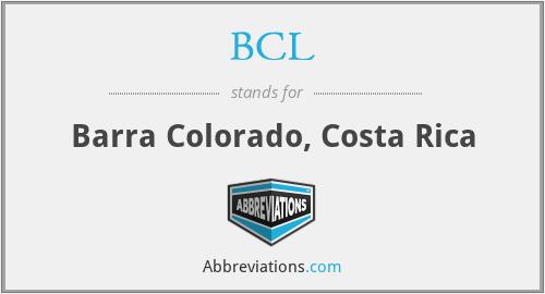 BCL - Barra Colorado, Costa Rica