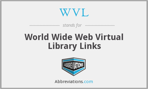 WVL - World Wide Web Virtual Library Links