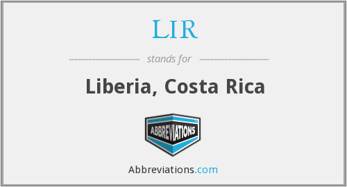 What does LIR stand for?