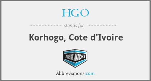HGO - Korhogo, Cote d'Ivoire