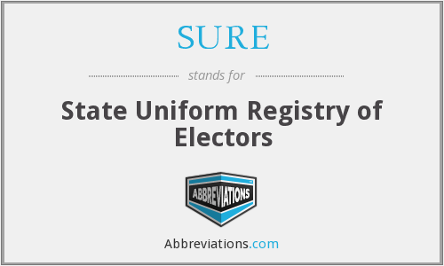 SURE - State Uniform Registry of Electors