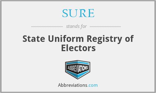 SURE - State Uniform Registry of Electors