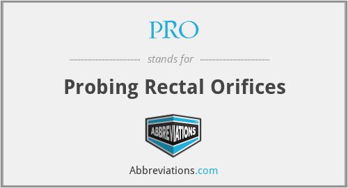 PRO - Probing Rectal Orifices
