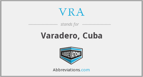 What does VRA stand for?