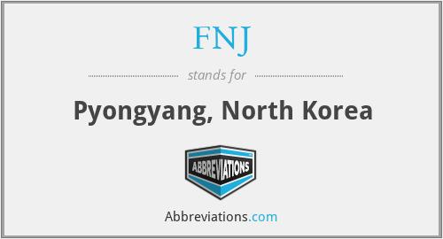 FNJ - Pyongyang, North Korea