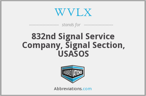 WVLX - 832nd Signal Service Company, Signal Section, USASOS