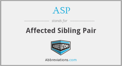 ASP - Affected Sibling Pair