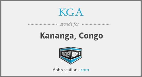 KGA - Kananga, Congo