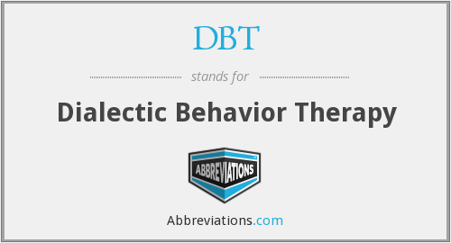 DBT - Dialectic Behavior Therapy