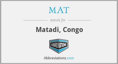 MAT - Matadi, Congo