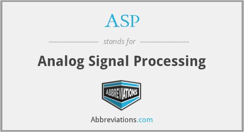 ASP - Analog Signal Processing