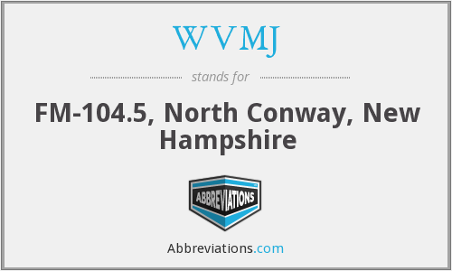 WVMJ - FM-104.5, North Conway, New Hampshire