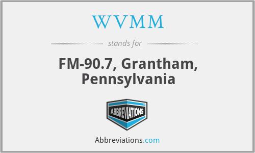 WVMM - FM-90.7, Grantham, Pennsylvania