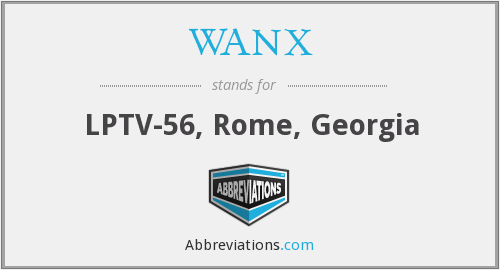 What does WANX stand for?
