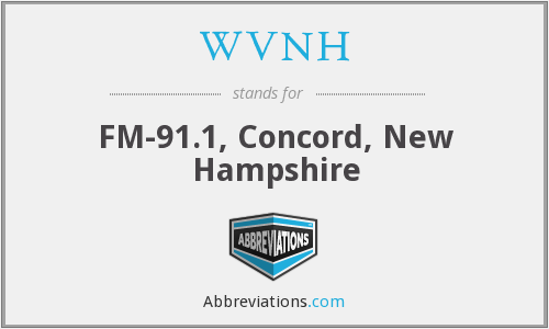 WVNH - FM-91.1, Concord, New Hampshire