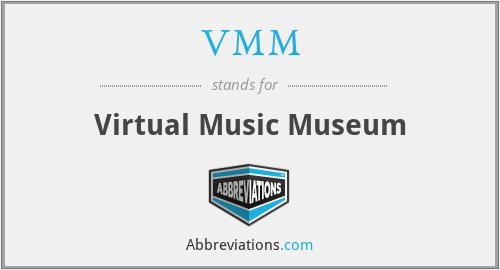 VMM - Virtual Music Museum