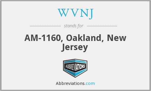 What does WVNJ stand for?