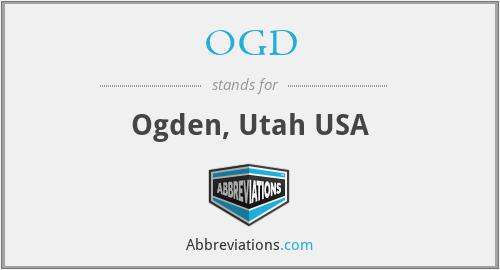 OGD - Ogden, Utah USA