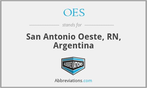 OES - San Antonio Oeste, RN, Argentina