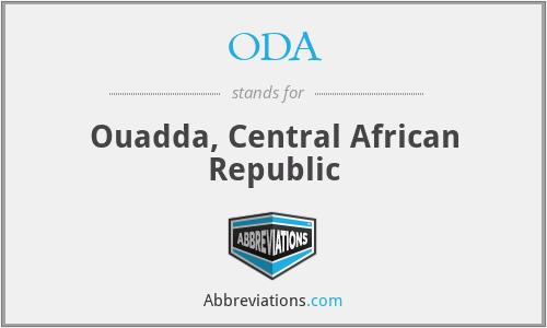 ODA - Ouadda, Central African Republic