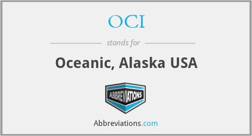 OCI - Oceanic, Alaska USA