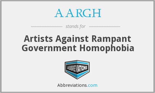 AARGH - Artists Against Rampant Government Homophobia