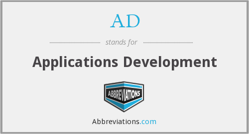 AD - Applications Development
