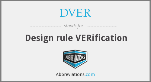 What does DVER stand for?