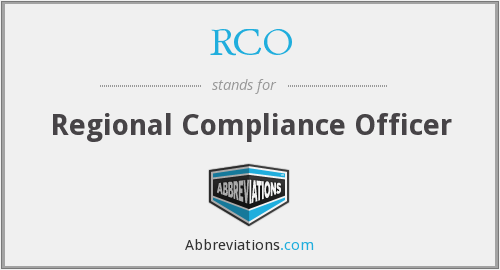 RCO - Regional Compliance Officer