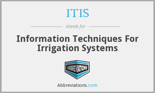 ITIS - Information Techniques For Irrigation Systems