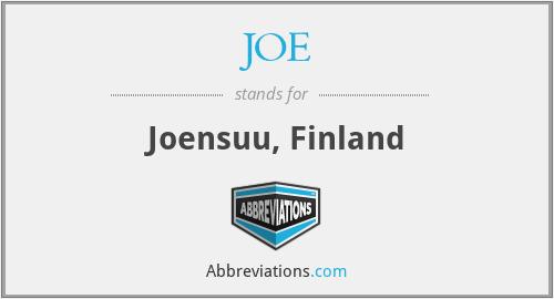 JOE - Joensuu, Finland