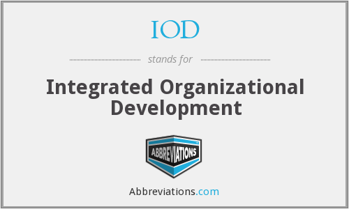 IOD - Integrated Organizational Development