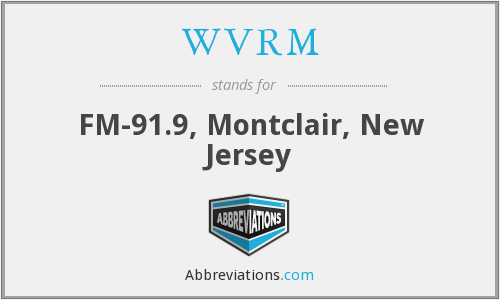 WVRM - FM-91.9, Montclair, New Jersey