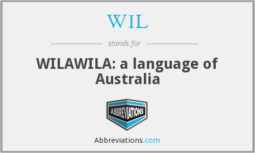WIL - WILAWILA: a language of Australia