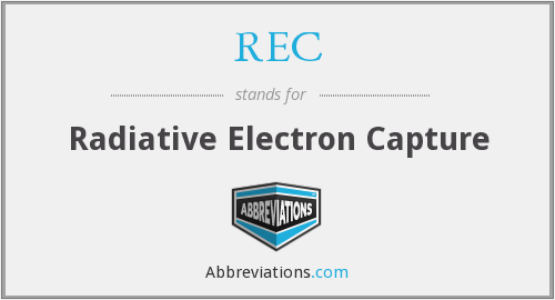 REC - Radiative Electron Capture