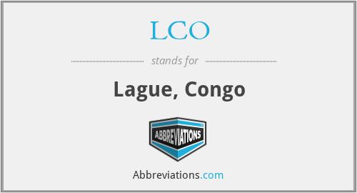LCO - Lague, Congo