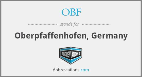 OBF - Oberpfaffenhofen, Germany