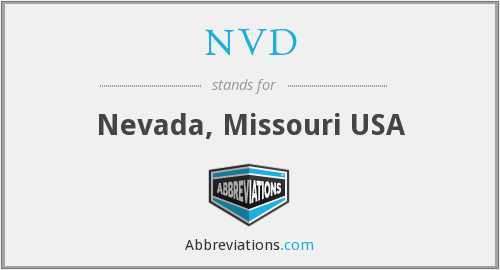 NVD - Nevada, Missouri USA