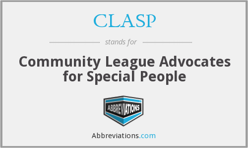 CLASP - Community League Advocates for Special People