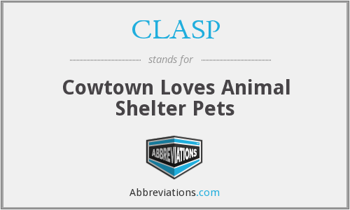 CLASP - Cowtown Loves Animal Shelter Pets