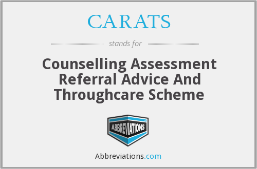 CARATS - Counselling Assessment Referral Advice And Throughcare Scheme