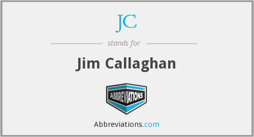 JC - Jim Callaghan