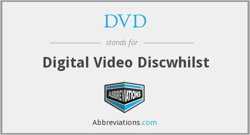 DVD - Digital Video Discwhilst
